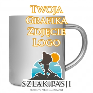 Kubek Metalowy 300 ml 00135 Foto z Grafiką Góry Tatry
