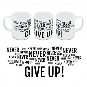 Kubek Motywacyjny Never Give UP 05a